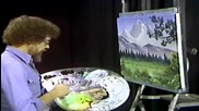 S01 Радостта на живописта с Bob Ross E08 - тиха долина ღобучение в рисуване, живописღ