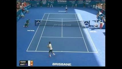 Хюит спечели турнира в Бризбейн след победа над Федерер
