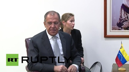 USA: Russian FM Lavrov meets Venezuelan leader Nicolas Maduro in NYC