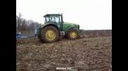 John Deere 8230 Lemken ... Plowing
