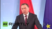 Germany: Steinmeier talks Ukraine conflict with Belarusian FM Makei