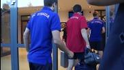 Футболистите на Стяуа и ЦСКА пристигнаха на стадиона