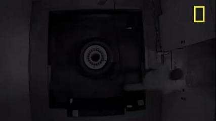 Взривяване на самолетна гума.