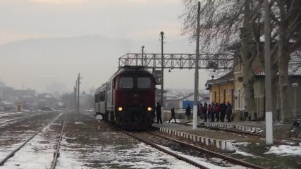 красивата машина 07 126 заминава за Пловдив.