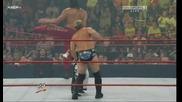 R A W 06/22/09 Jeff Hardy,  Khali & Rey Mysterio vs Chris Jericho,  Dolph Ziggler & Edge
