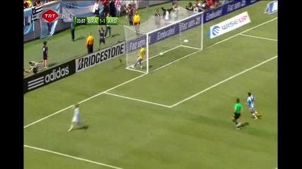 Brazil 3 - 4 Argentina Messi Amazing 09 06 2012]
