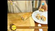 """Рецептата днес - Пълнена франзела с табуле и панирана """"Снежанка"""" - На кафе (02.07.2014г.)"""