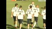 Първата тренировка на Реал Мадрид с Роналдо и Карим Бензема 10/07/09