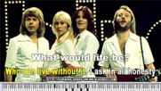 "Abba ""thank For The Music"" Karaoke songs with lyrics on the screen."