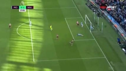 Манчестър Сити - Саутхемптън 0:1 /първо полувреме/