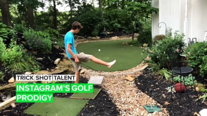 Trick Shot Talent: The 19-year-old self-made golfing extraordinaire