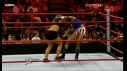 Raw 08/24/09 Beth Pheonix , Alicia Fox & Roza vs Mickie James,  Kelly Kelly & Gail Kim