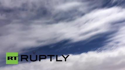 Руски пилот засича предполагаем безпилотен самолет на САЩ по време на мисия