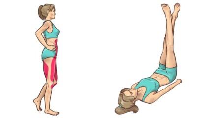 Прости упражнения преди лягане, с които краката ви ще отслабнат
