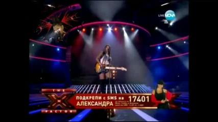 X Factor Bulgaria Alexandra - American woman 29.11.2011