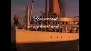 Песента на Титаник. Текст на екрана.