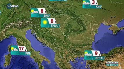 Прогноза за времето на NOVA NEWS (28.02.2021 - 13:00)