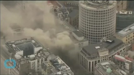 Parts of Central London Still Shut as Fire Smoulders