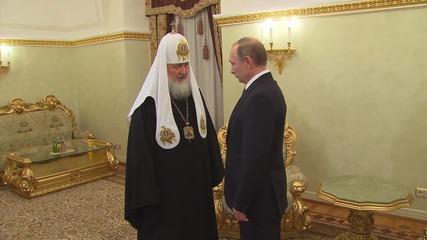 Russia: Putin congratulates Patriarch Kirill on 7th anniversary of enthronement