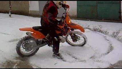 Ktm 250 Exc в снега