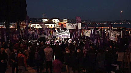 Turkey: Activists rally in Istanbul to condemn violence against women