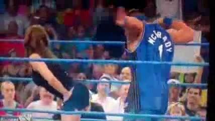 John Cena шляпа Stephanie Mcmahon по задника!