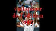 Roger Federer - Le Calendrier Saison 2008