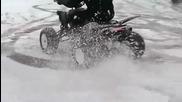 Atv Yamaha Raptors in the Snow