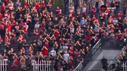 Ленти на терена забавиха старта на битката на Локо Пд и ЦСКА