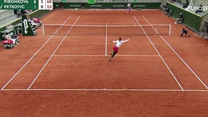 Pironkova vs Petkovic 2020 Roland Garros R1