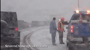 Снеговълеж и закъсали превозни средства в Колорадо 12.10.2014