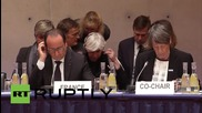 Germany: Merkel and Hollande attend prep meeting for UN Climate Change Conference