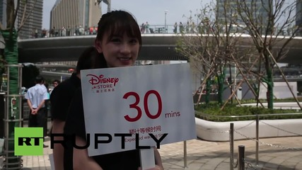 China: Disney open their flagship store in Shanghai