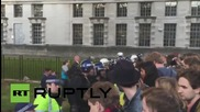 UK: Anger boils over in London as anti-Tory protesters face-off with riot police