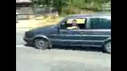 Палене на гуми - Vw Golf II 1.8 130hp