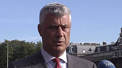Netherlands: Kosovo Pres. Thaci leaves court in The Hague after questioning on war crimes charges