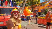 Netherlands: Street party in The Hague goes orange as football fans celebrate matchday