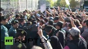 Iran: Protesters scuffle with police outside Saudi embassy in Tehran following Hajj deaths