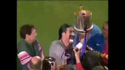 13.05 Барселона спечели Купата на Краля в Испания - Награждаване + Празненства