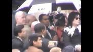 Michael Jackson - Returns to Gary Indiana in 2003 11 June