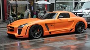 Matte Orange Mercedes Sls By Fab Design