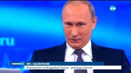 Путин - с рекордно висок рейтинг