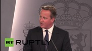 """Spain: Cameron will respond """"morally"""" to refugees, helping strengthen EU borders"""
