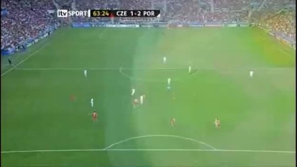 Czech Republic 1 - 2 Portugal - Ronaldo