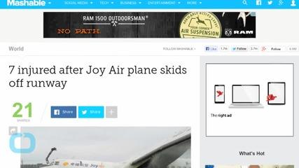 7 Injured in Joy Air Plane Runway Accident