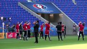 France: Gareth Bale warms up with Wales' team ahead of historic Euro clash