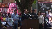 USA: Anti-gun activists picket NRA office in Washington, DC
