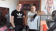 "Фитнес зала ""асклеп"" - тренировка за ръце по немска система за обем."
