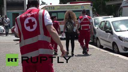 Italy: Twelve injured after metro collision in Rome