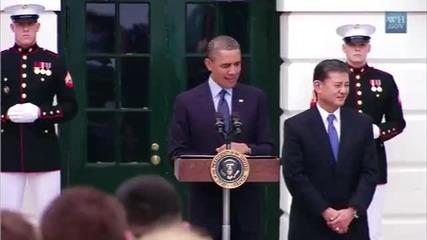 Барак Обама изпълнява Uptown Funk